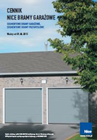 Katalogi cennik bram garażowych Nice 2015